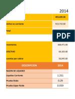 Analisis de Los Ratios Financieros