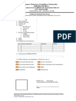 Formulir Pendaftaran Calon Pengurus