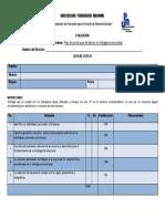 Lista de Cotejo Para Evaluar Plan de Acción IE