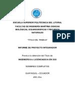 Estructura Del Documento Materia Integradora