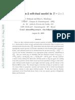 A new spin 2 self dual model in D=2+1 - Dalmazi, Mendonça
