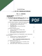 30812 III Contents Limitation Arbitration
