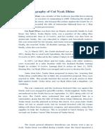 Biography of Cut Nyak Dhien