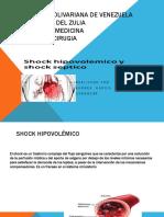 shock septico e hipovolemico