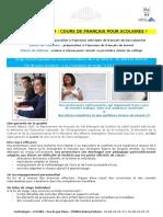 Cours de français pour les scolaires à Brest