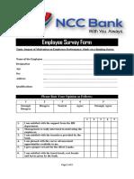 Employee Survey Form