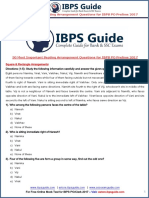 50 Most Important Seating Arrangement Questions for IBPS PO Prelims 2017-Www.ibpsguide.com