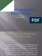 Sistema Numerico Esadecimale