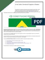 Constituição Federal Em Audio MP3