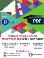 Brochure de Curso de Tesis Febrero 2018