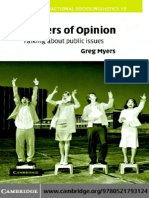 Greg Myers__Matters of Opinion_ Talking About Public Issues