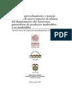Ecología, aprovechamiento y manejo - colombia - 2007