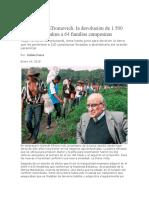 Duro Golpe a Efromovich La Devolución de 1.500 Hectáreas de Palma a 64 Familias Campesinas