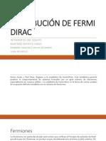 Distribución de Fermi Dirac