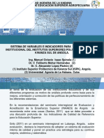 Sistema de Variables e Indicadores Para La Evaluación Institucional