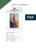 Constitución Política de La República de Chile de 19802222222222222