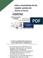 Denominación y Movimiento de Las Principales Cuentas De