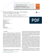 Numerical Simulations of the Effect of Bolt Inclination on the Shear Strength of Rock Joints