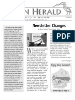 June 2008 Heron Herald Newsletter Rainier Audubon Society