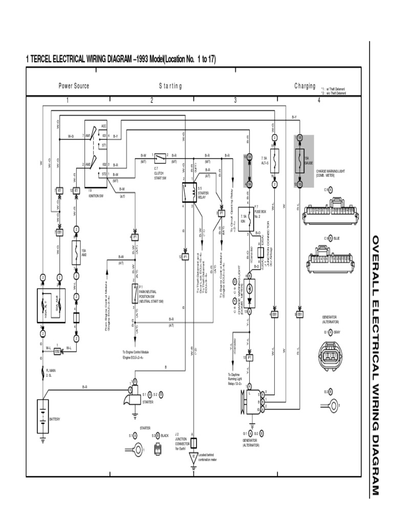 93 Tercel Ewd | Motor Vehicle | Electromagnetism on