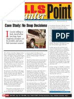 Case Study - No Snap Decisions