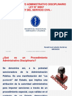 Procedimiento Administrativo Disciplinario - Ley Servir