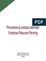 Prezentarea Si Evolutia Sistemelor ERP (Enterprise Resource Planning)