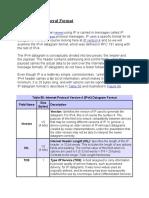 IP Datagram General Format