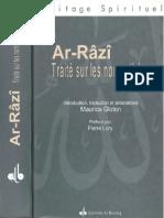 AL-RAZI Traité Sur Les Noms Divins (Gloton, 1999)