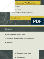 Presentaion (Electrical Systems Adn Wind Turbines)