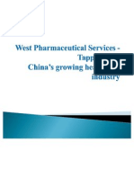 West Pharmaceutical Services - Tapping Into