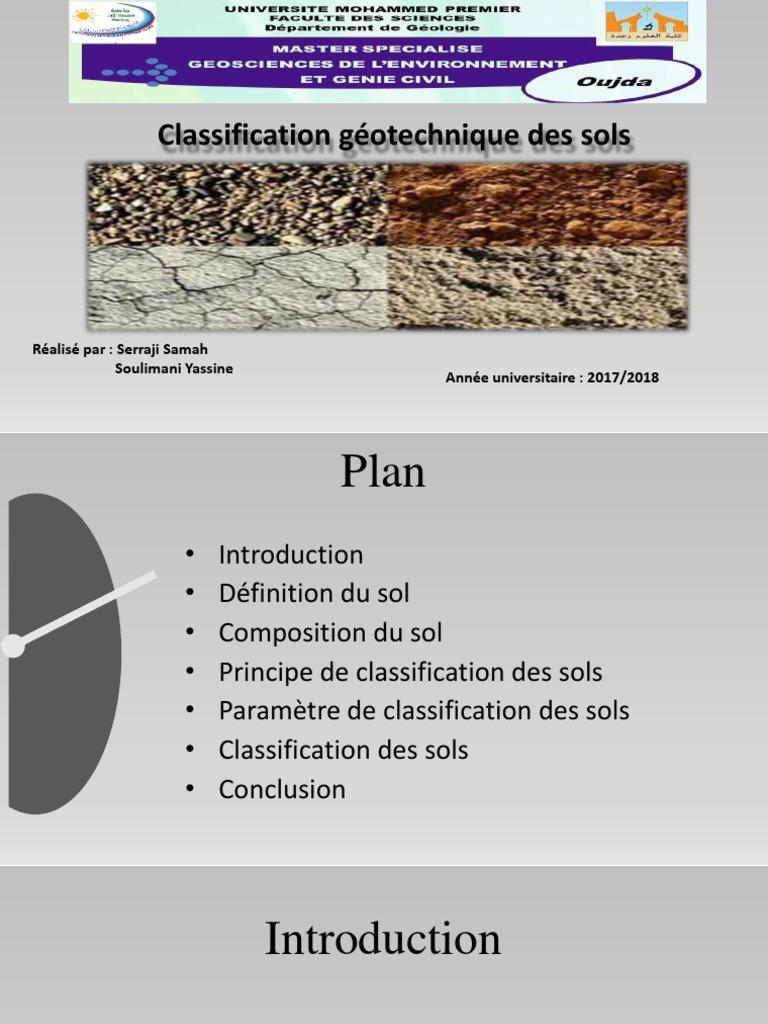 Classification des sols.ppt  Sol (pédologie)  Matériaux