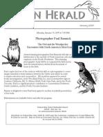 January 2009 Heron Herald Newsletter Rainier Audubon Society