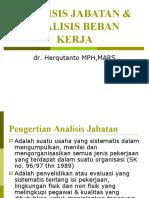 AnJab & Beban Kerja
