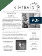 May 2009 Heron Herald Newsletter Rainier Audubon Society