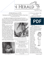 September 2009 Heron Herald Newsletter Rainier Audubon Society