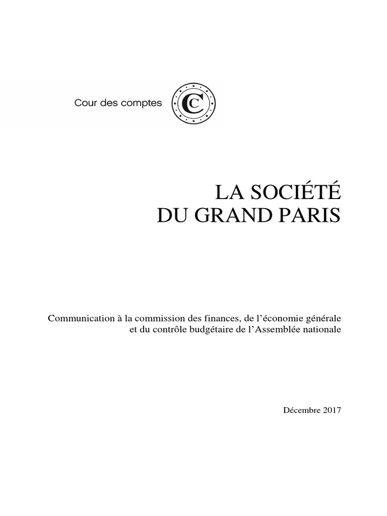 Rapport de la Cour des Comptes Société Du Grand Paris 814e8c8050