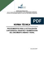 Norma Tecnica Procedimientos Actualizacion Cartografica