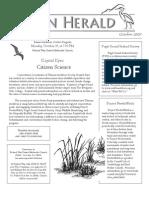 October 2009 Heron Herald Newsletter Rainier Audubon Society