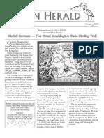 January 2010 Heron Herald Newsletter Rainier Audubon Society