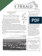March 2010 Heron Herald Newsletter Rainier Audubon Society