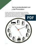 Incrementa Tu Productividad Con La Técnica Del Pomodoro