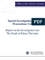 NYS OAG Report Edson Thevenin Shooting Troy Police