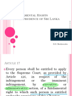 Fundamental Rights Jurisprudence of Sri Lanka