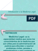 Introducción Medicina Legal