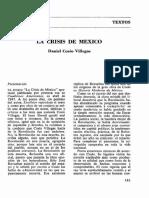 La crisis de México - Cosío Villegas.pdf