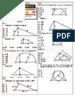 ficha de ejercicios de geometria N°11  4° y 5° de secundaria