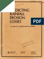 Wischmeier and Smith - Erosion Losses.pdf