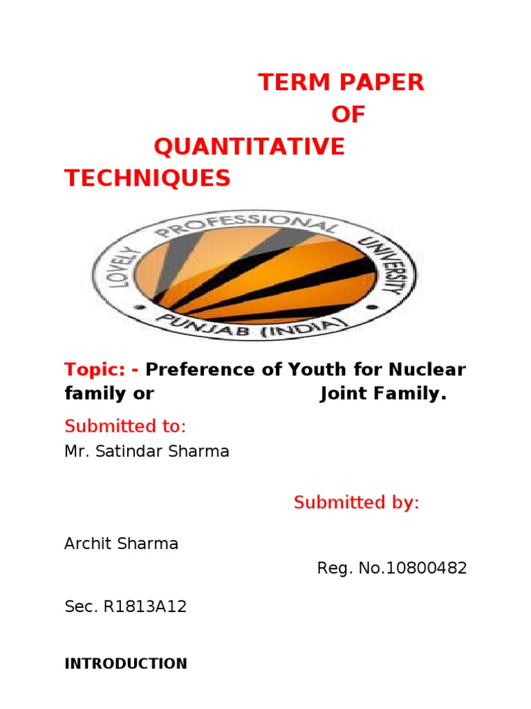 preference of youth for nuclear family or joint family family  preference of youth for nuclear family or joint family family marriage