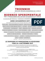 Nuove Ammissioni 2017 Trienni Biennio